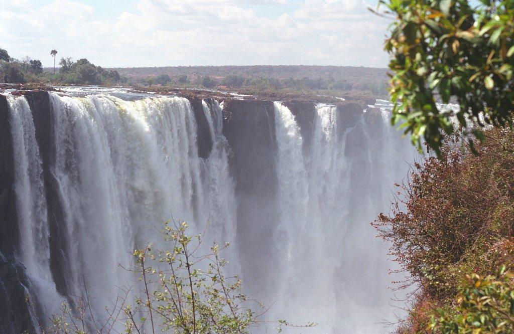 Majestic Victoria Falls in Zimbabwe